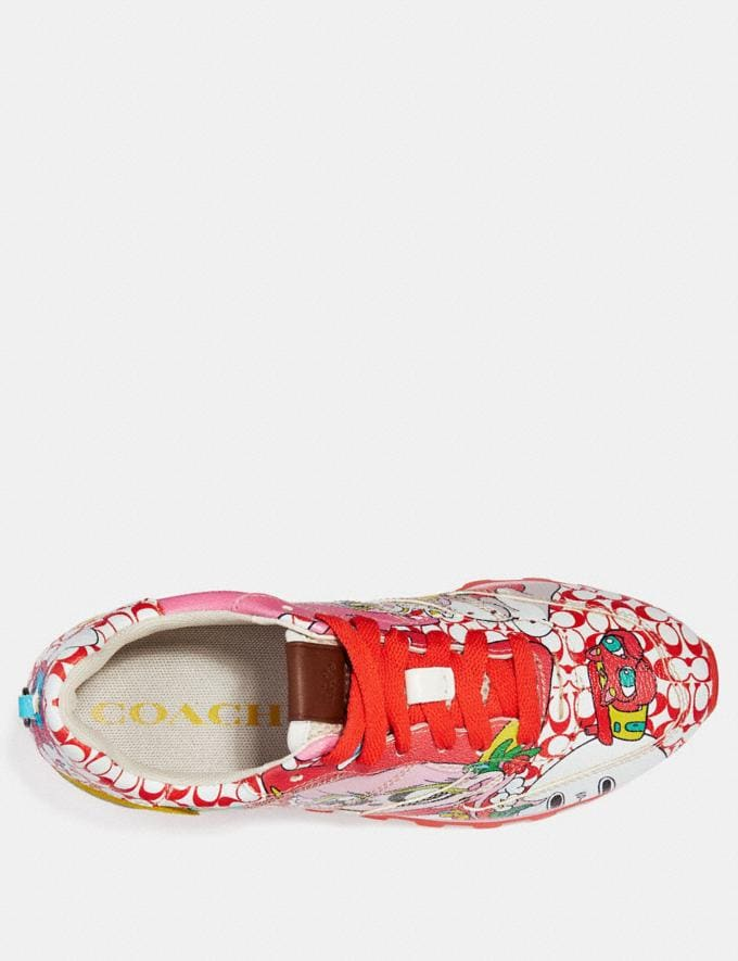 Coach C118 by Sawako Kageyama Red Multi/ Red SALE Men's Sale Shoes Alternate View 2