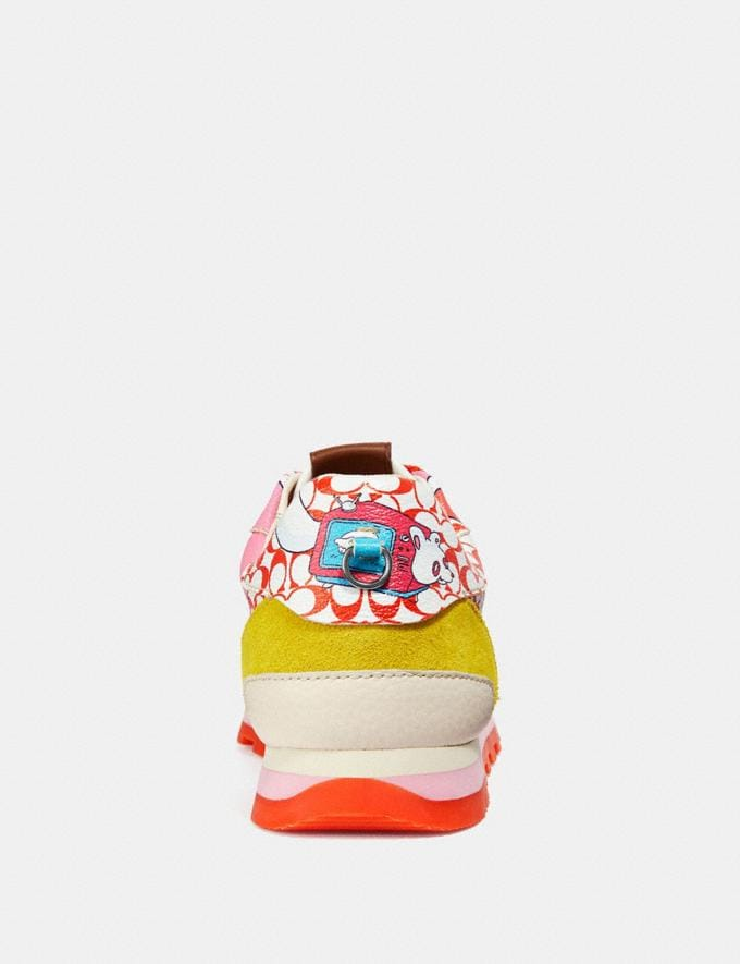 Coach C118 by Sawako Kageyama Red Multi/ Red SALE Men's Sale Shoes Alternate View 3