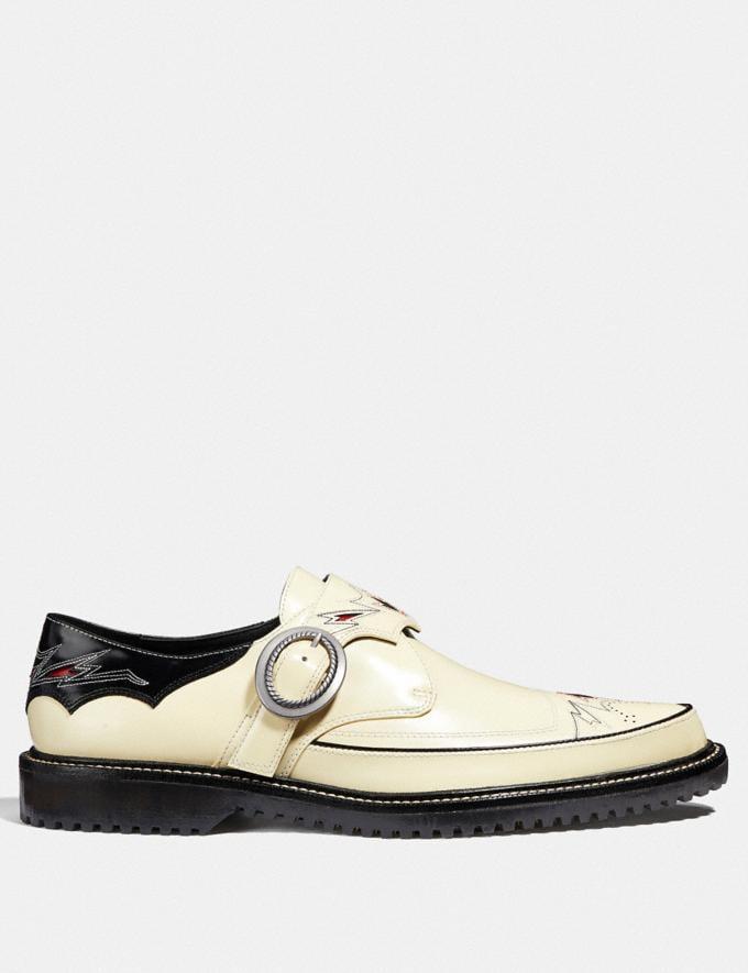 Coach Western Derby Chalk/Black SALE Men's Sale Shoes Alternate View 1
