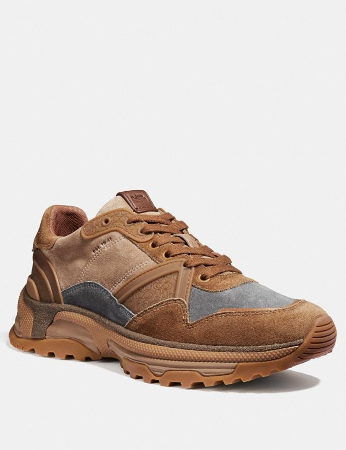 Coach C143 Runner Camel Men Shoes Trainers