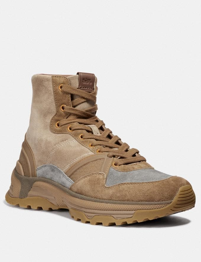 Coach C243 High Top Runner Camel SALE Men's Sale