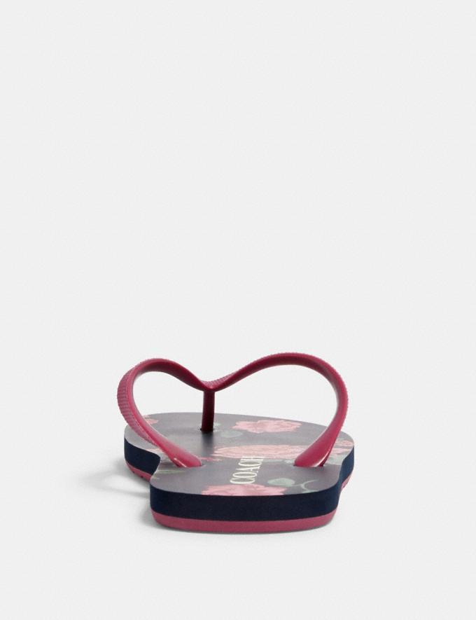 Coach Zak Flip Flop With Floral Print Navy/Pink  Alternate View 3