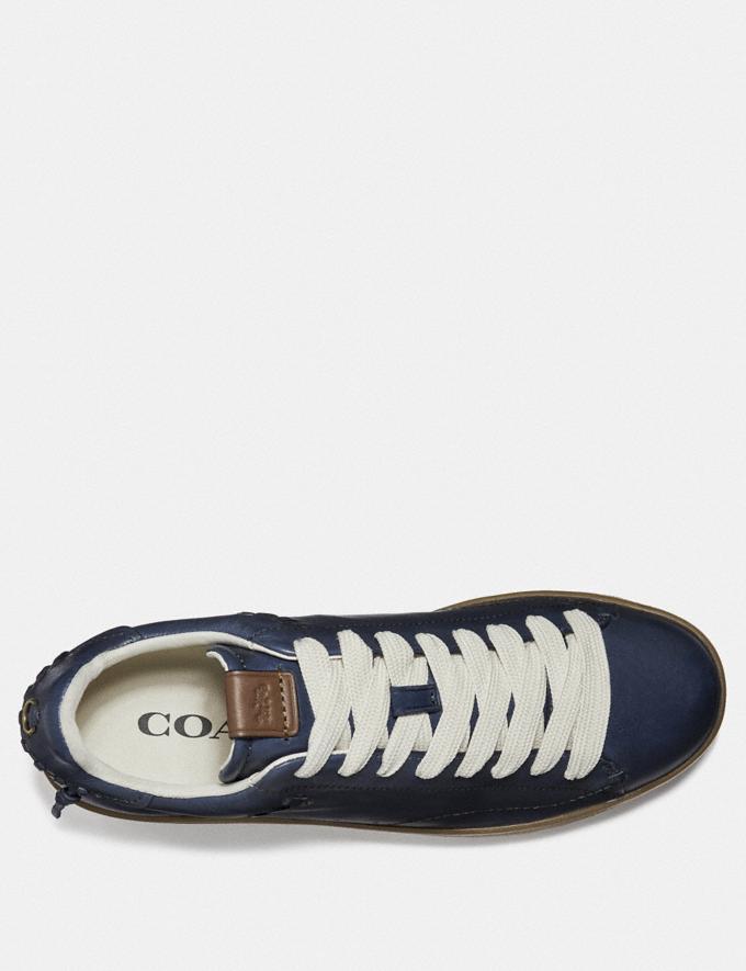 Coach C101 Low Top Sneaker Denim Men Shoes Trainers Alternate View 2