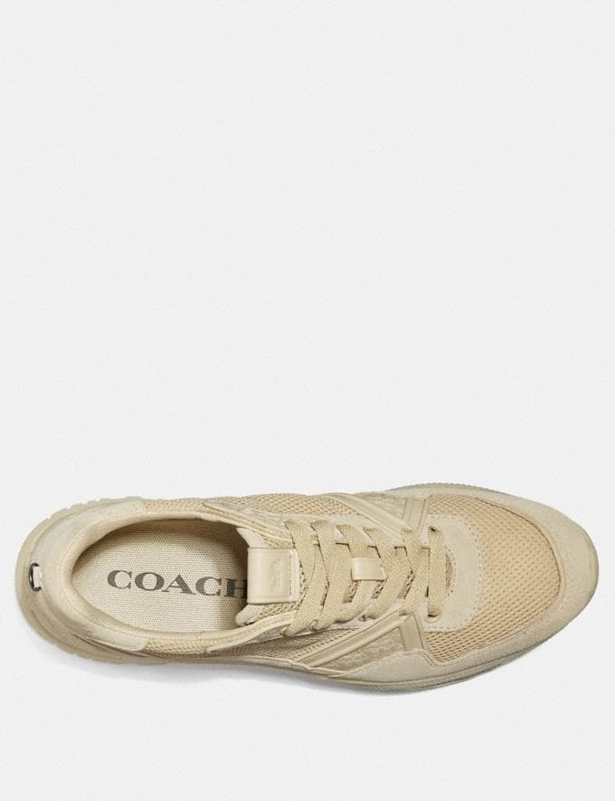 Coach C143 Runner Cream Men Shoes Trainers Alternate View 2