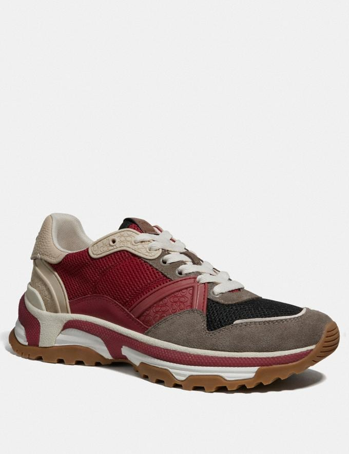 Coach C143 Runner Red Multi
