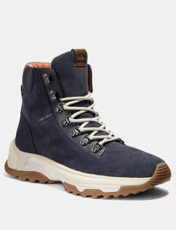 Coach Urban Hiker Boot Midnight Navy Men Shoes Boots