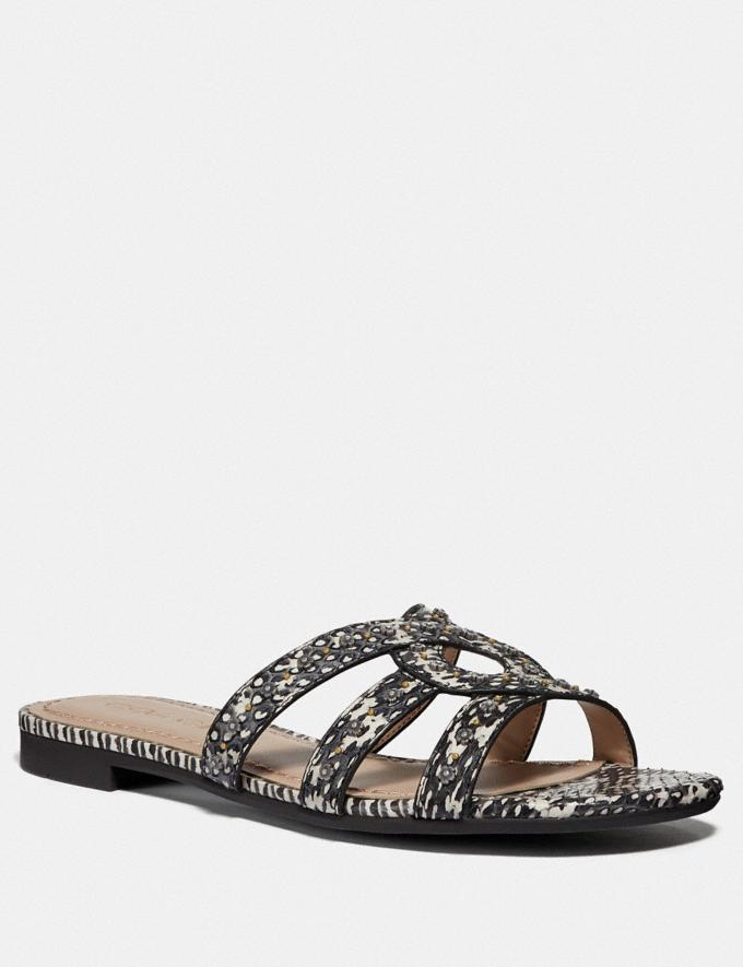 Coach Kennedy Sandal Natural Women Shoes Flats