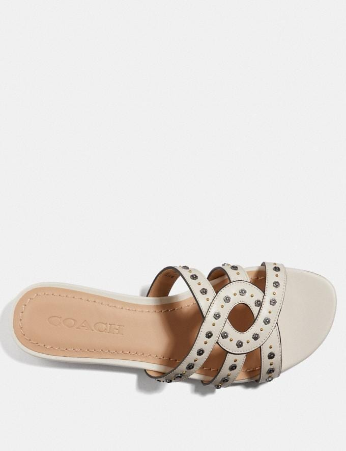 Coach Kennedy Sandal Chalk New Women's New Arrivals Shoes Alternate View 2