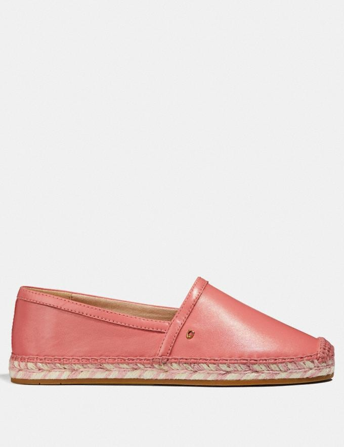 Coach Casey Espadrille Bright Coral Women Shoes Sandals Alternate View 1