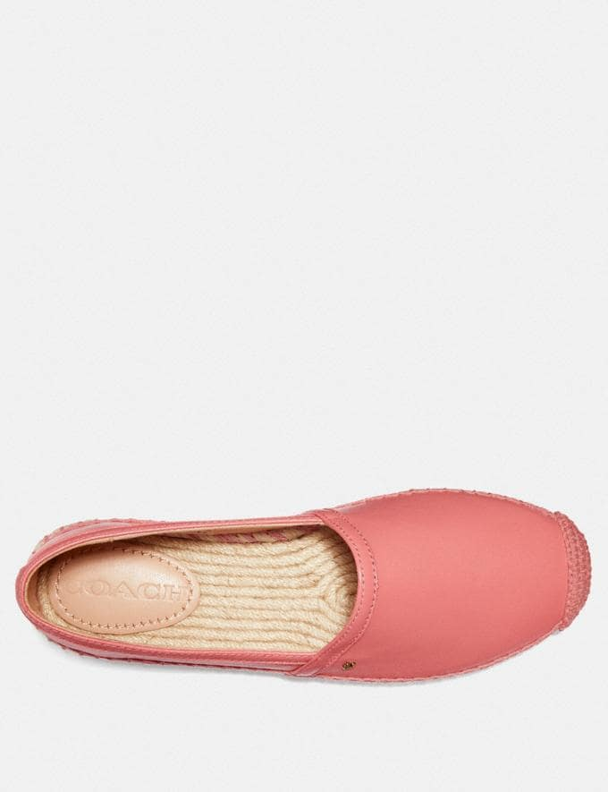 Coach Casey Espadrille Bright Coral Women Shoes Flats Alternate View 2