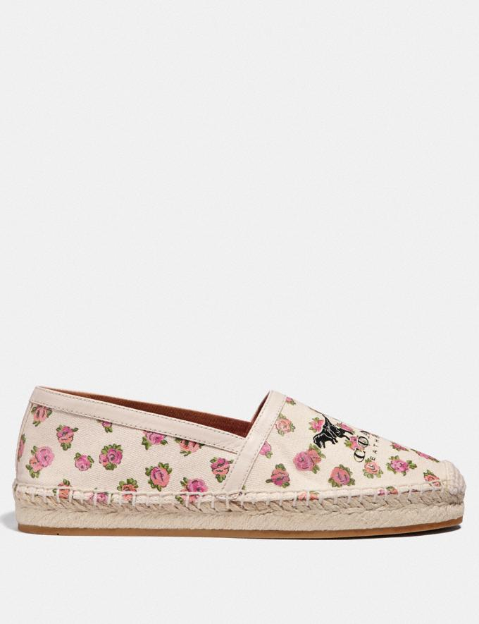 Coach Casey Espadrille With Mini Vintage Rose Print Chalk Women Shoes Alternate View 1