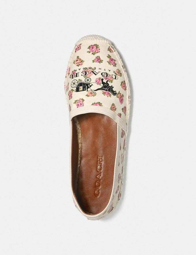 Coach Casey Espadrille With Mini Vintage Rose Print Chalk Women Shoes Alternate View 2