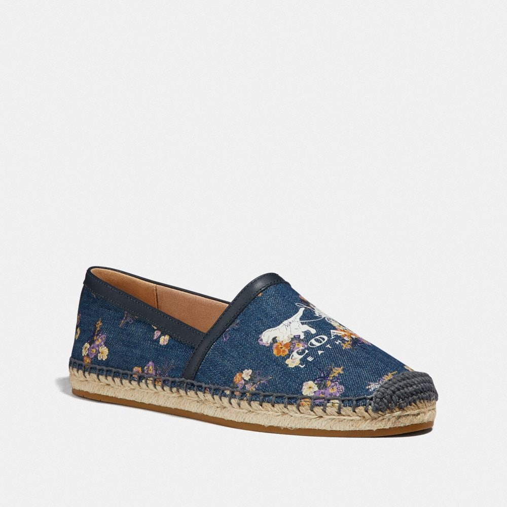 Coach Casey Espadrille With Painted Floral Bow Print