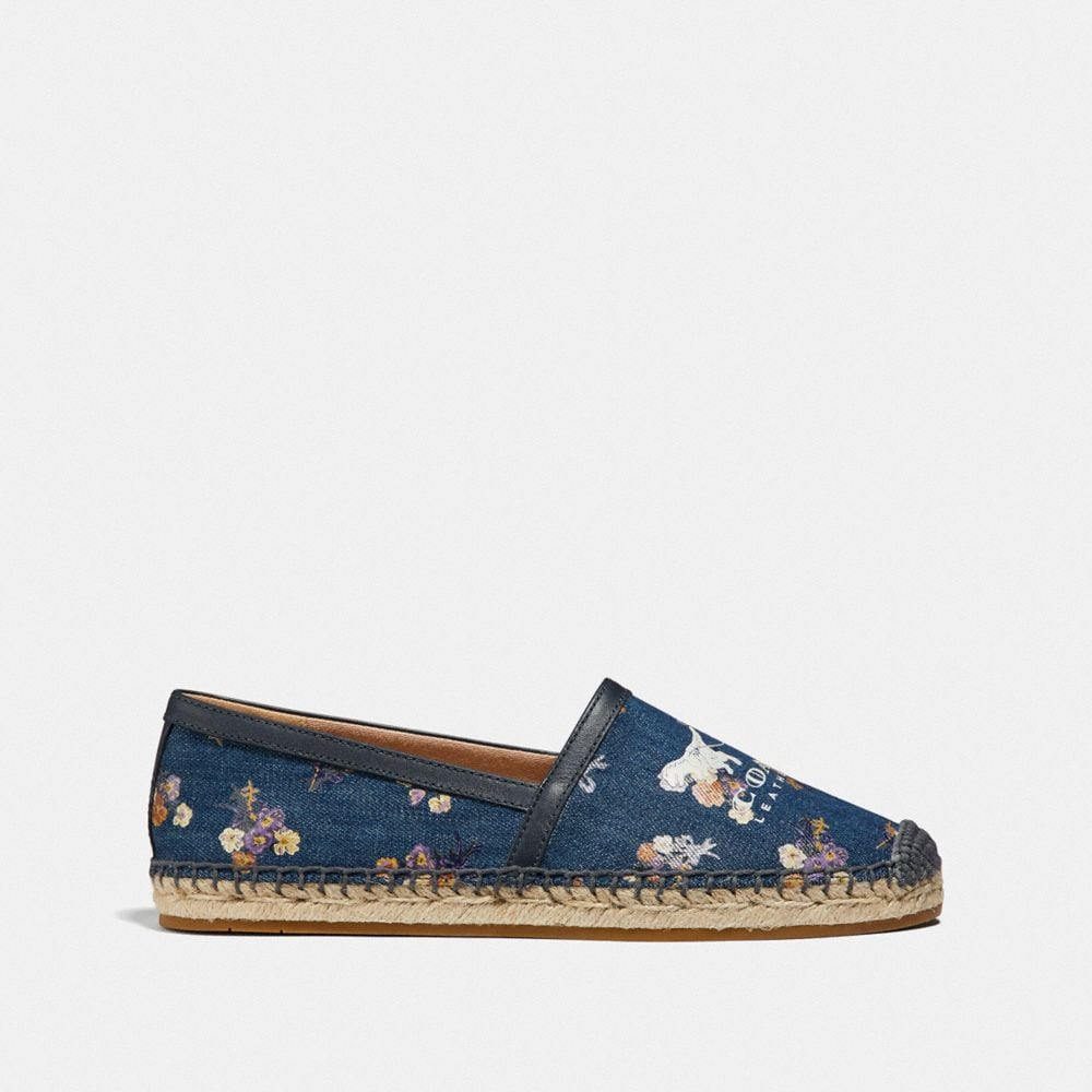 Coach Casey Espadrille With Painted Floral Bow Print Alternate View 1