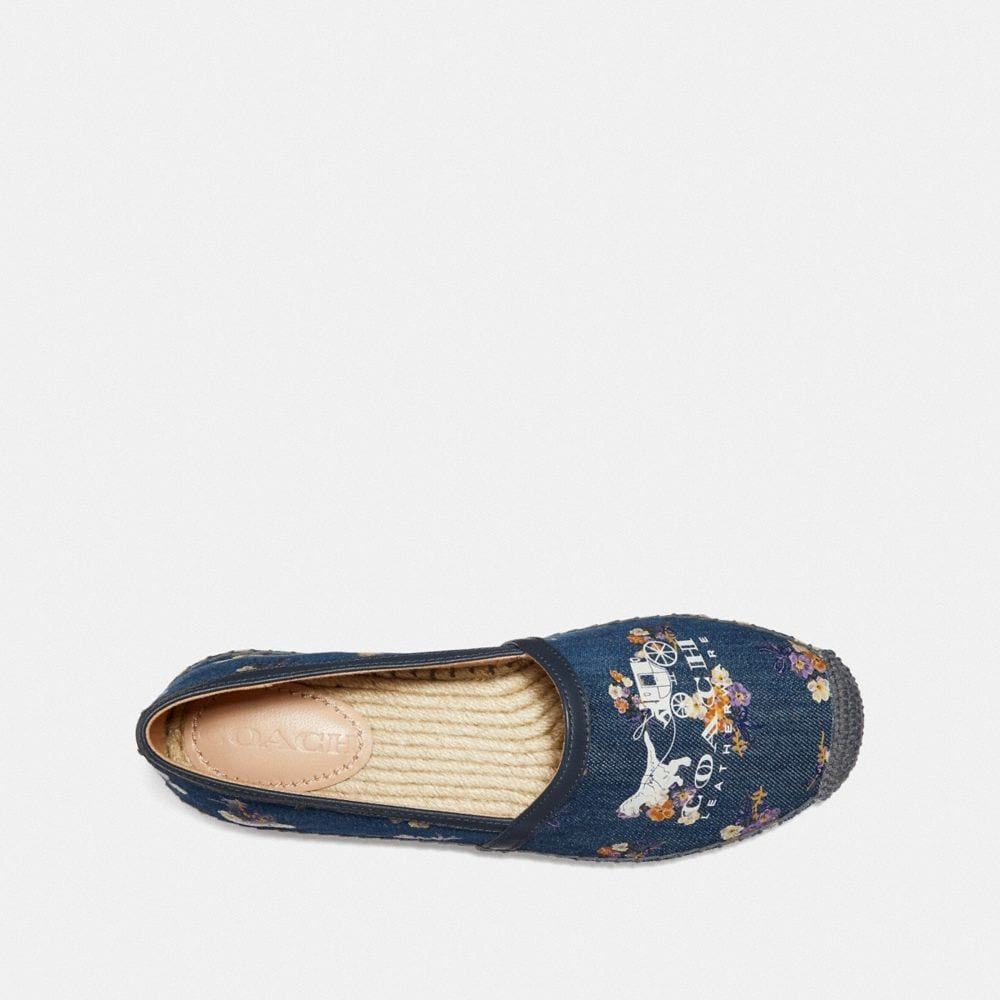 Coach Casey Espadrille With Painted Floral Bow Print Alternate View 2