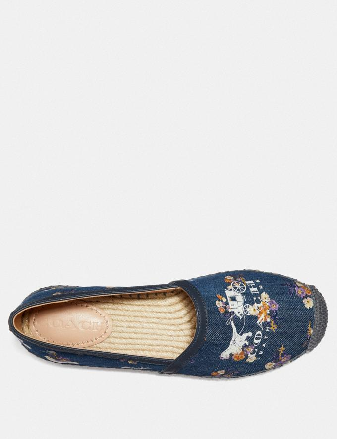 Coach Casey Espadrille With Painted Floral Bow Print Denim/Midnight SALE Women's Sale Shoes Alternate View 2