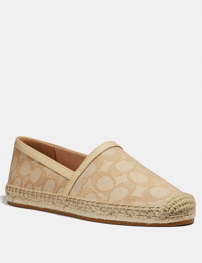 Coach Casey Espadrille Ivory/Cream Women Shoes Flats