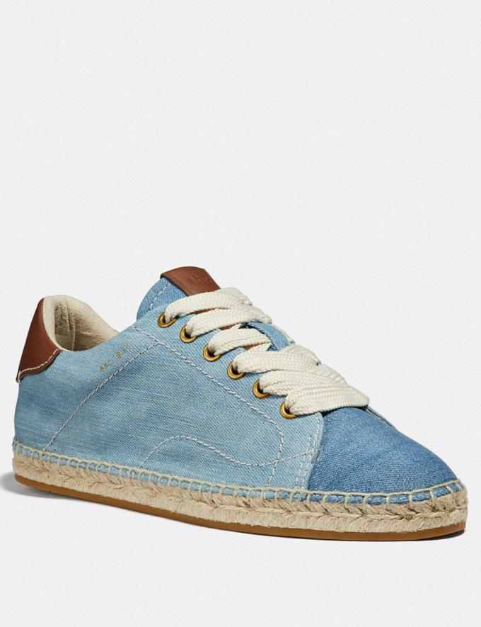 Coach C101 Low Top Espadrille Denim/Dark Denim
