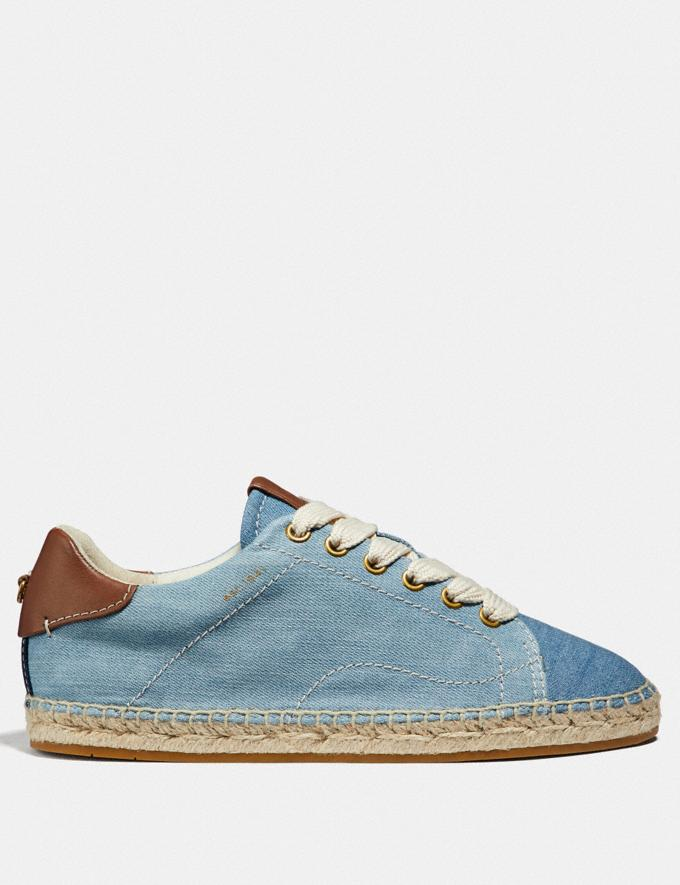 Coach C101 Low Top Espadrille Denim/Dark Denim  Alternate View 1