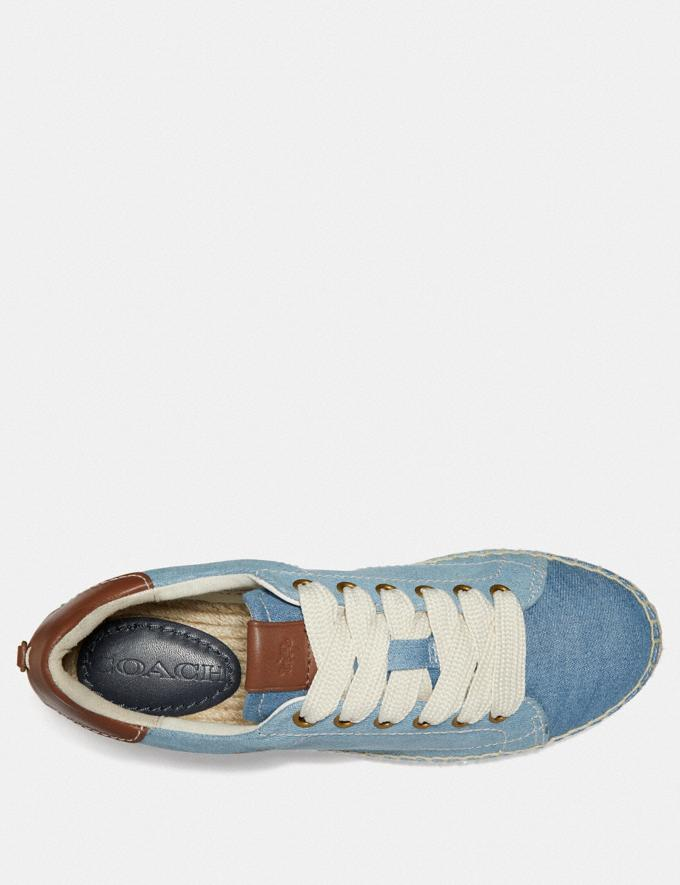 Coach C101 Low Top Espadrille Denim/Dark Denim  Alternate View 2