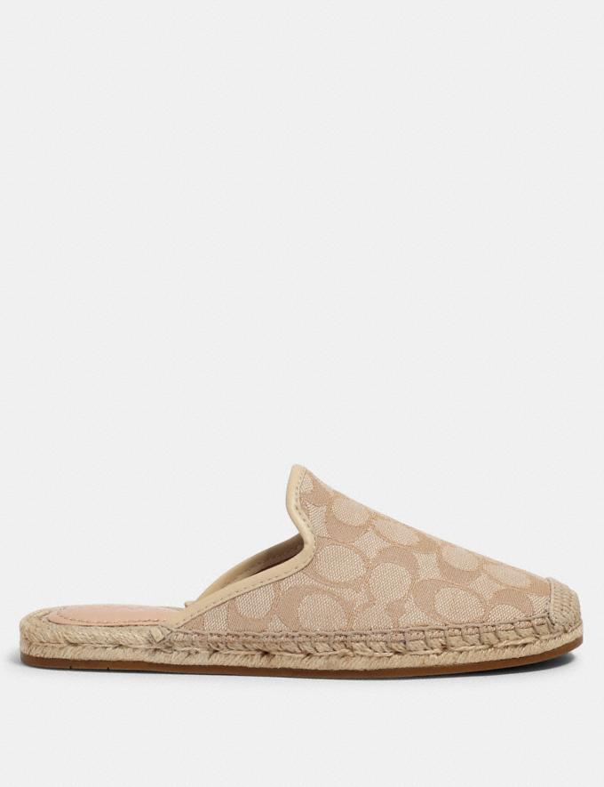 Coach Cali Espadrille Slide Ivory/Cream  Alternate View 1