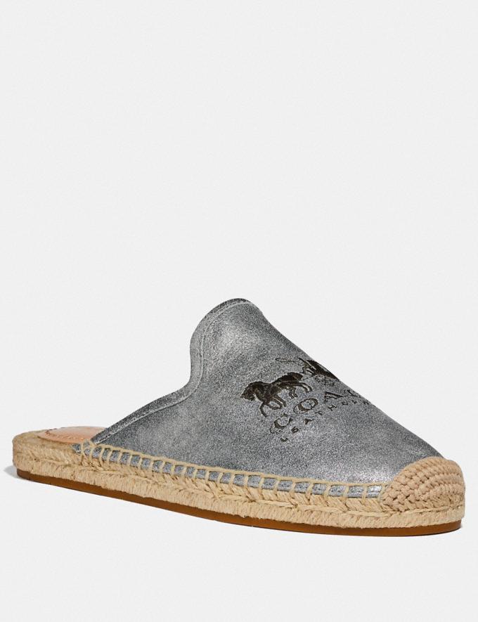 Coach Cali Espadrille Slide Granite Women Shoes Flats