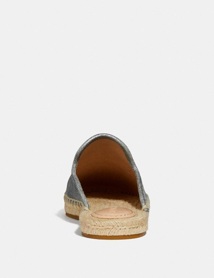 Coach Cali Espadrille Slide Granite Women Shoes Flats Alternate View 3