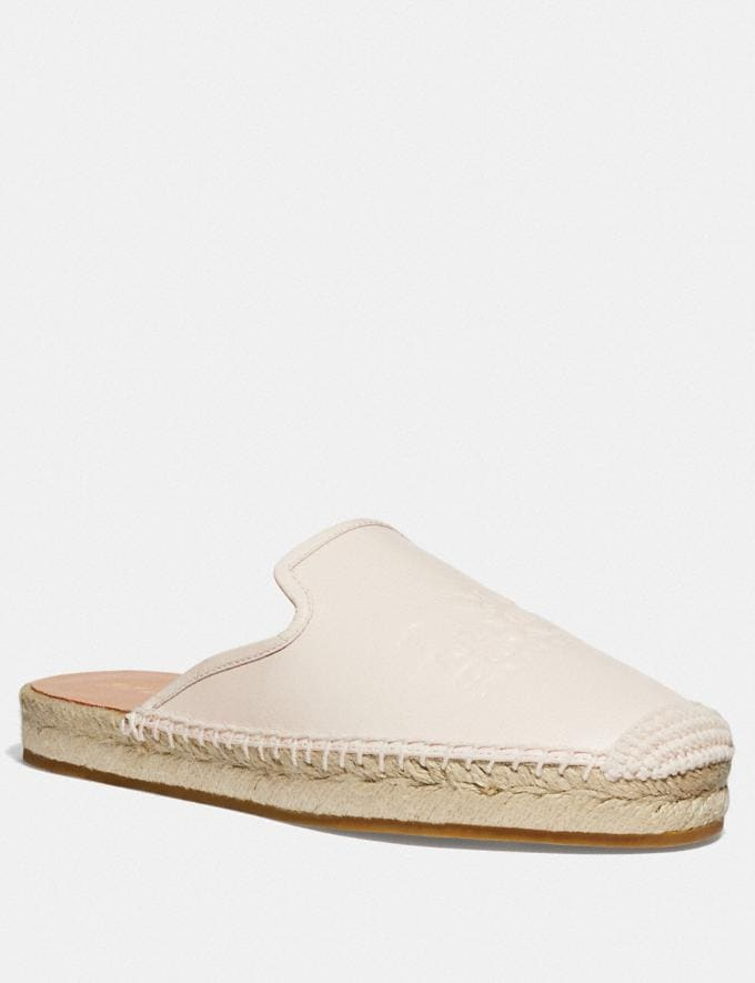 Coach Cali Espadrille Slide Chalk Women Shoes Flats