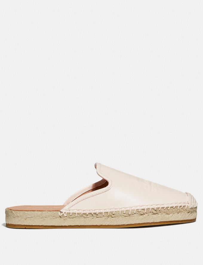 Coach Cali Espadrille Slide Chalk Women Shoes Flats Alternate View 1