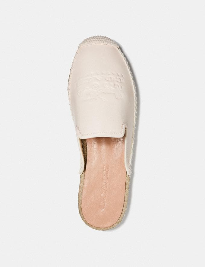 Coach Cali Espadrille Slide Chalk Women Shoes Flats Alternate View 2