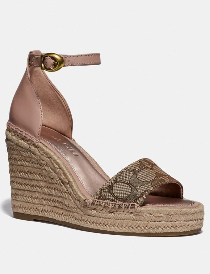 Coach Kit Wedge Espadrille Khaki/Pale Blush Women Edits Summer Picks