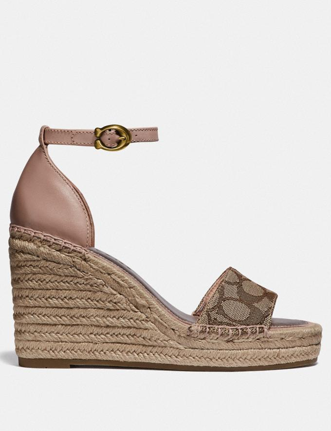 Coach Kit Wedge Espadrille Khaki/Pale Blush Women Edits Summer Picks Alternate View 1