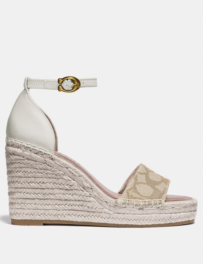 Coach Kit Wedge Espadrille Ivory/Chalk Women Shoes Heels Alternate View 1