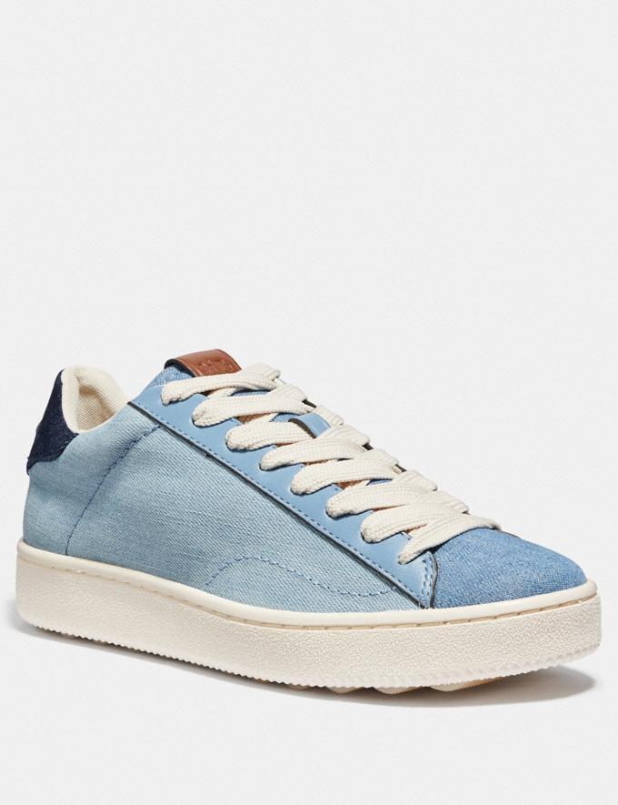 Coach C101 Low Top Sneaker Light Denim/Dark Denim SALE Women's Sale Shoes