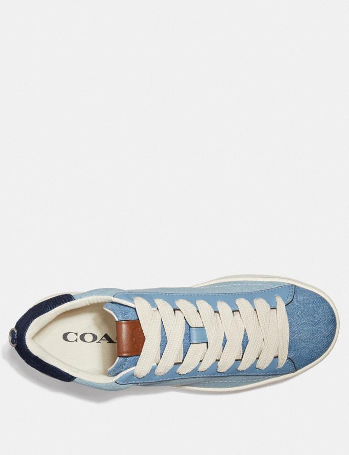 Coach C101 Low Top Sneaker Light Denim/Dark Denim SALE Women's Sale Shoes Alternate View 2