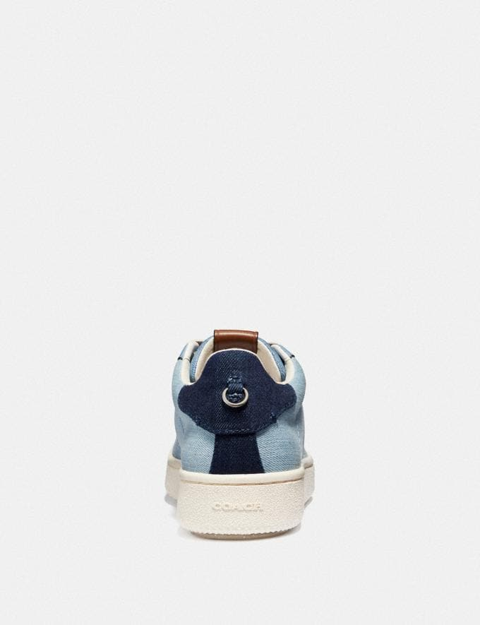 Coach C101 Low Top Sneaker Light Denim/Dark Denim SALE Women's Sale Shoes Alternate View 3