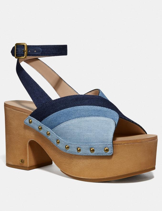Coach Nettie Clog Sandal Denim Multi SALE Women's Sale Shoes