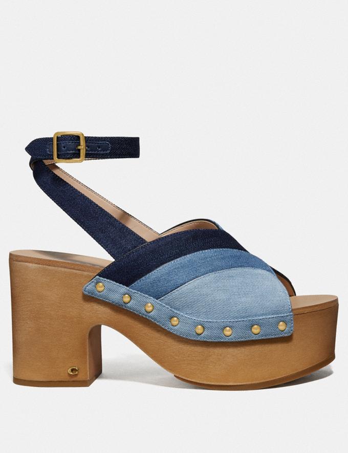 Coach Nettie Clog Sandal Denim Multi SALE Women's Sale Shoes Alternate View 1