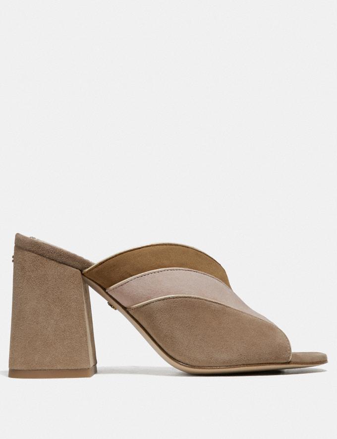 Coach Bria Mule Oat/Pale Blush Women Shoes Heels Alternate View 1