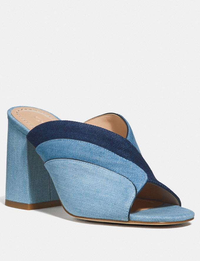 Coach Bria Mule Denim Multi SALE Women's Sale Shoes