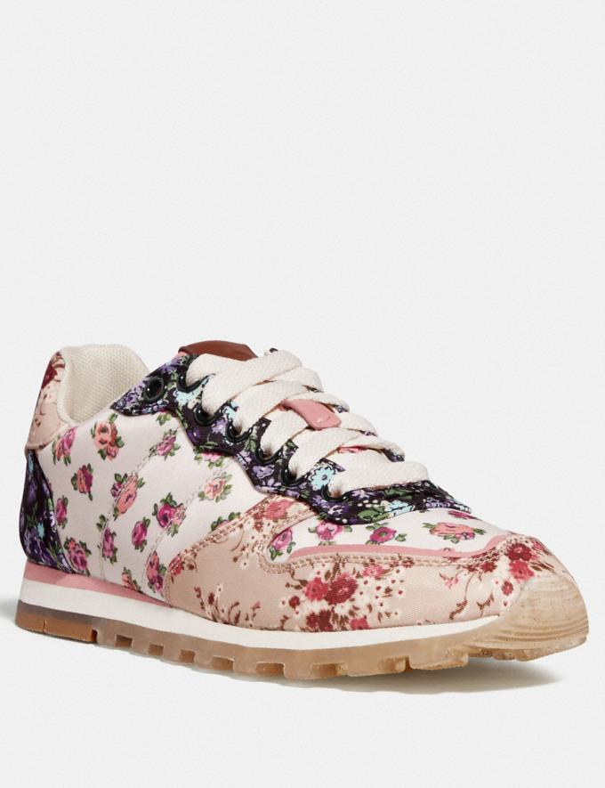 Coach C118 With Mixed Floral Print Chalk Multi/Beechwood Multi Women Shoes Trainers