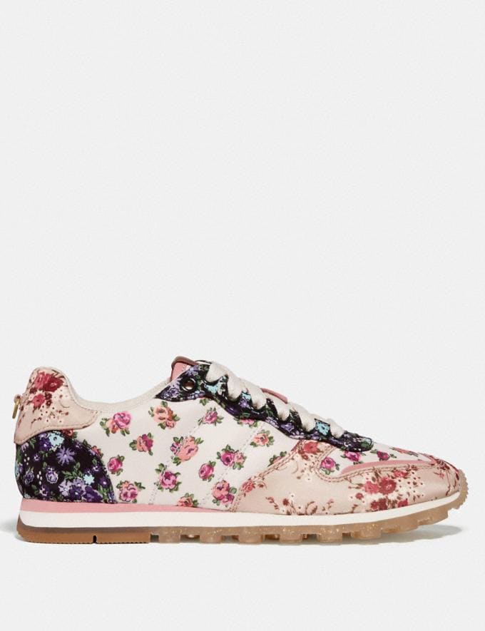 Coach C118 With Mixed Floral Print Chalk Multi/Beechwood Multi Women Shoes Trainers Alternate View 1