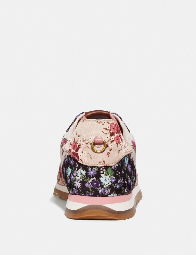 Coach C118 With Mixed Floral Print Chalk Multi/Beechwood Multi Women Shoes Trainers Alternate View 3