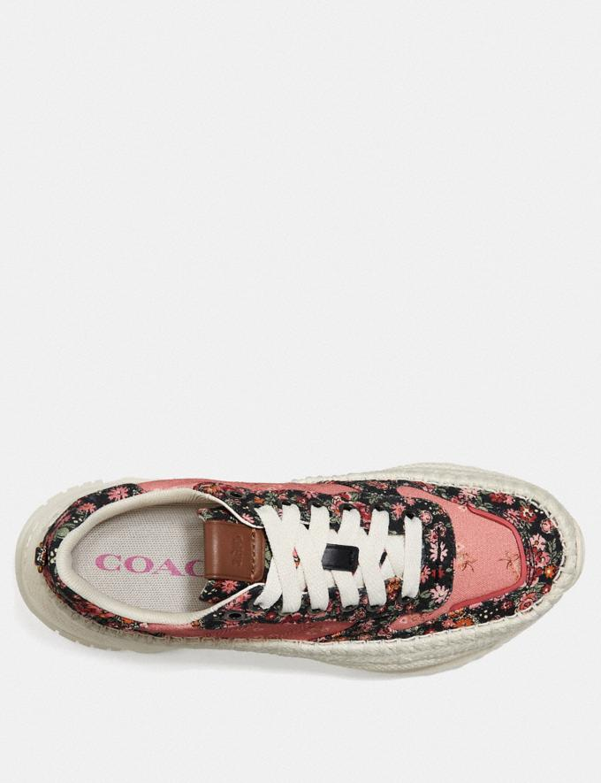 Coach C143 Espadrille Runner With Mix Posey Cluster Print Coral Multi/Black Multi SALE Women's Sale Shoes Alternate View 2