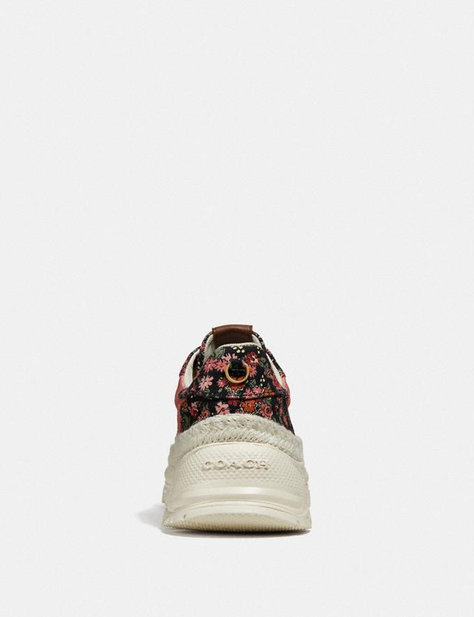Coach C143 Espadrille Runner With Mix Posey Cluster Print Coral Multi/Black Multi SALE Women's Sale Shoes Alternate View 3