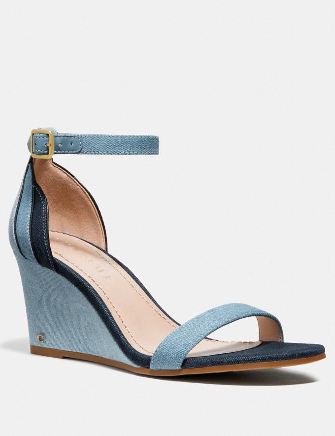 Coach Olive Sandal Denim Multi SALE Women's Sale Shoes