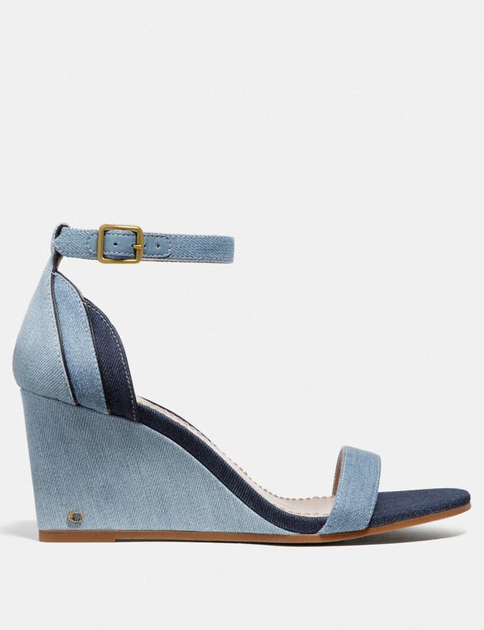 Coach Olive Sandal Denim Multi SALE Women's Sale Shoes Alternate View 1