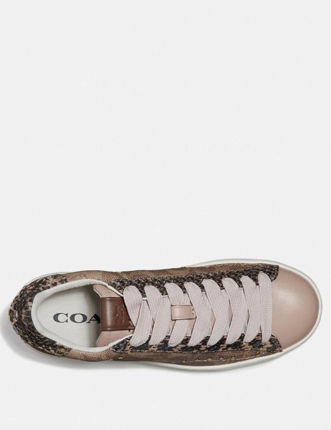 Coach C101 Low Top Sneaker Tan/Nude Pink  Alternate View 2