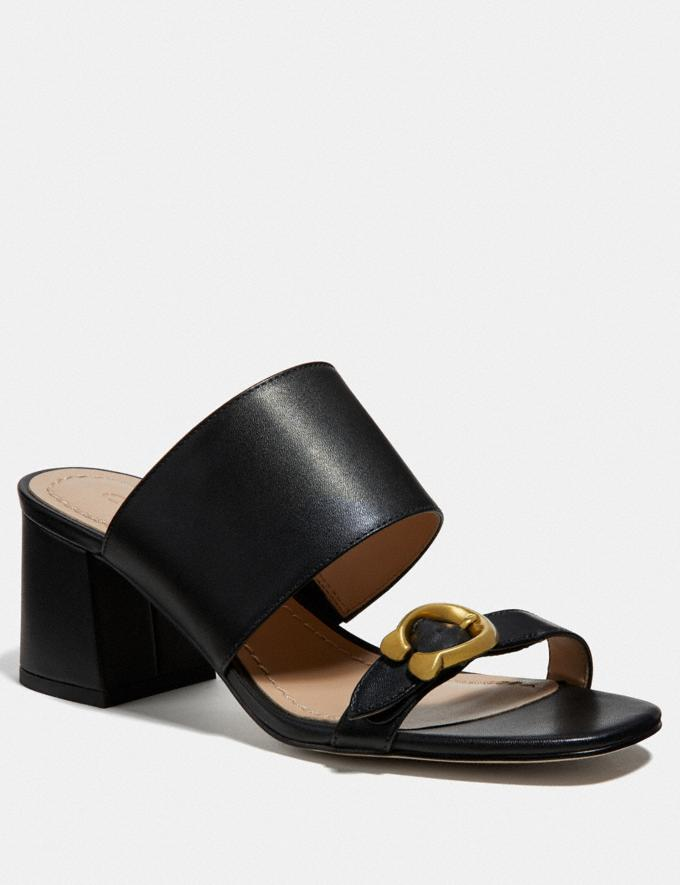 Coach Mae Mule Black/Black New Women's New Arrivals Shoes
