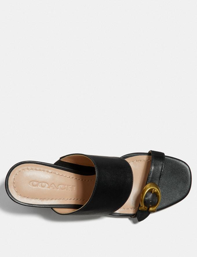 Coach Mae Mule Black/Black SALE Women's Sale Shoes Alternate View 2